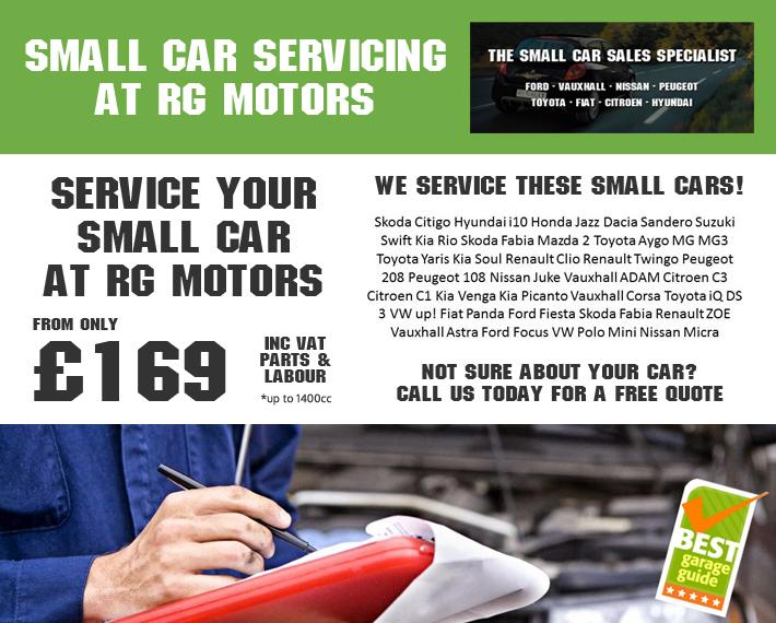 Vehicle Servicing Offers, Service my Car Van, RG Motors Heywood